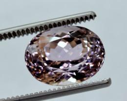 No Reserve - 11.50 Carat OVAL Cut Pink Kunzite Gemstone