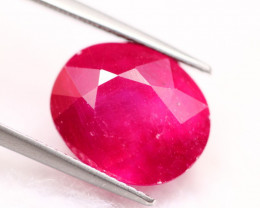 11.08Ct Mozambique Ruby Oval Cut Lot LZ7640