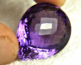 CERTIFIED - 69.30 Ct. VVS Brazil Purple Amethyst - Gorgeous