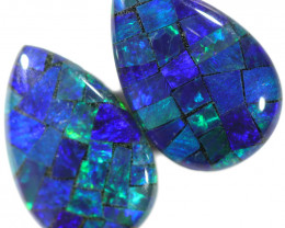 3.55 CTS OPAL MOSAIC TRIPLETS -PAIR [REL200-]