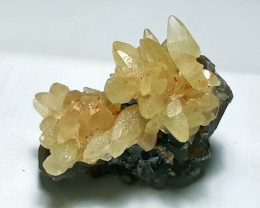 Lovely Damage free gemmy Calcite with Fluorite 398Cts-Pakistan