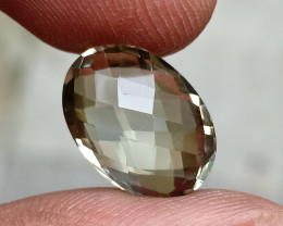 GREEN AMETHYST CHECKERED CUT Natural Gemstone VA765