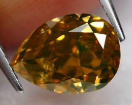 0.96Ct Fancy Vivid Green Natural Diamond BM21