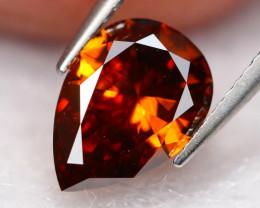 0.74Ct Fancy VVS Vivid Orange Natural Diamond BM29