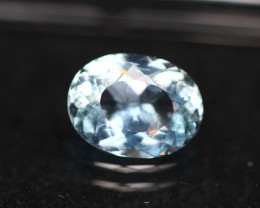 1.55ct Blue Aquamarine Oval Cut Lot V4686