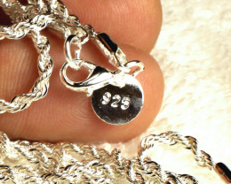 73.2 Tcw. Matched Silver Chains - 18 Inches - 3mm - 2 Pcs.