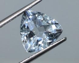 4.40 Carat VVS Topaz Aqua Blue Trillion Cut Exquisite !