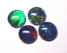 1.81tcw Opal Triplets Round Shape 6mm 4pcs
