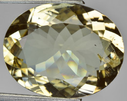 13.01 Cts Natural Yellow Scapolite Oval Cut Tanzanian Gem