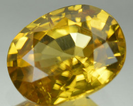 2.07 Cts Natural Sparkling Yellow Zircon Oval Cut SriLanka