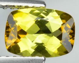 1.26 Cts Natural Greenish Yellow Tourmaline Cushion Mozambique