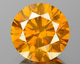 1.26 Cts Sparkling Rare Fancy Vivid Orange Color Natural Loose Diamond