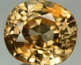 1.78 Cts Natural Sparkling Yellow Zircon Oval Cut SriLanka