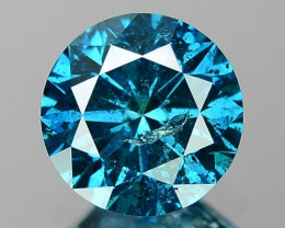 0.82 Cts Sparkling Rare Fancy Intense Blue Color Natural Loose Diamond