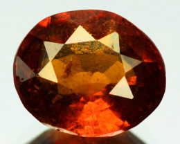 3.30 Cts Natural Hessonite Garnet Cinnamon Orange Oval Cut SriLanka