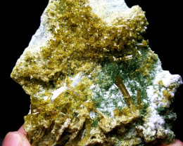 Amazing Epidote combine with Diposite cluster have good luster 330Cts-Pak