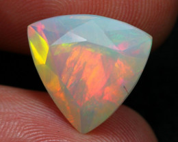 Opal 5.33Ct Natural Chaff Fire Ethiopian Welo Faceted Opal B0403