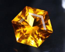 Citrine 7.40Ct Precision MasterCut Golden Citrine - Trinity Hexagon B0409