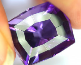 15.35 Carats Natural Top Color Fancy Cut Amethyst Gemstone