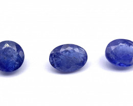 Tanzanite Lot of 3 gemstones 4 ct 4.03 ct 4.11 ct
