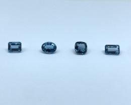 19.27 Carats Lot of 4 PCS  Blue Topaz Loose Gemstone IGI Certified