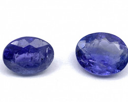 Tanzanite Lot of 2 gemstones 2.76 ct  2.68 ct Oval cut