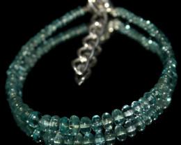 25 Crt Natural Apatite Beads Bracelet 578