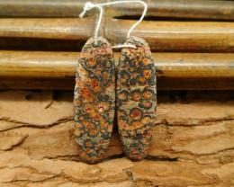 Leopard skin jasper earring pairs (G0807)
