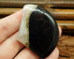 Black quartz cabochon (G0815)