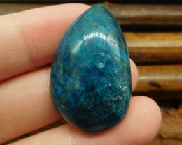 Natural gemstone apatite cabochon bead (G0819)
