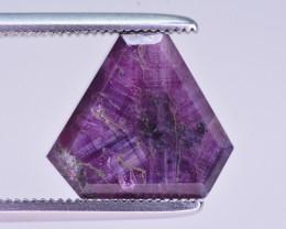 Rarest 6.90 ct Trapiche Pink Kashmir Sapphire. JHM