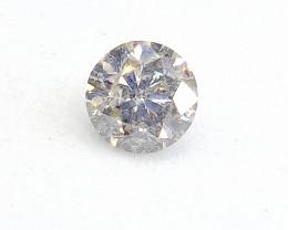 0.51ct  White  Diamond , 100% Natural Untreated