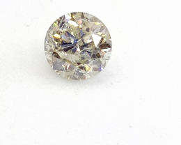 0.51ct  Faint Green Diamond , 100% Natural Untreated