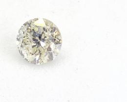 0.52ct  Light Yellow Diamond , 100% Natural Untreated