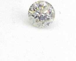 0.52ct  Faint Yellow Green  Diamond , 100% Natural Untreated