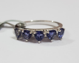 Iolite 925 Sterling silver ring #403