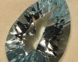 6.35CT Sparkling Sweet Blue Tear Drop Topaz VS  ME