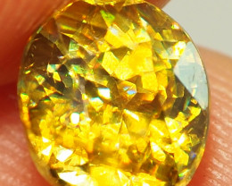 2.10CT GEM VVS2 SPHENE INCREDIBLE COLOURS ME29