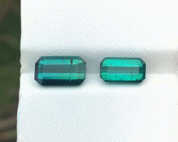 3.35 Ct Natural  Greenish Blueish Transparent Tourmaline Gemstones Parcels