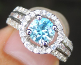 Cambodian Blue Zircon with Sapphire
