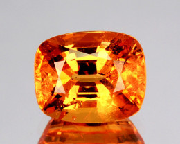 ~LUMINOUS~ 1.72 Cts Natural Fanta Orange Spessartite Garnet Cushion Namibia