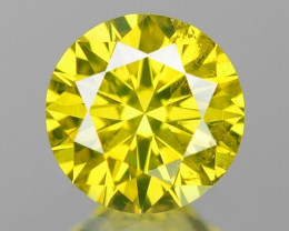 0.17 Cts SPARKLING RARE FANCY VIVID YELLOW NATURAL DIAMOND