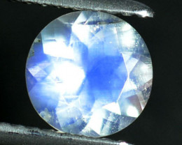 1.06 Cts Natural Royal Blue Moonstone 7mm Round Cut Bihar-India