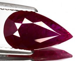 ~GIT~ 2.56 Cts Natural Corundum Ruby Pinkish Red Pear Cut Mozambique