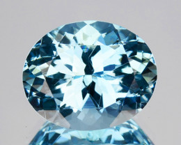 ~RICHEST~ 4.30 Cts Natural Blue Aquamarine Oval Santa maria - Brazil