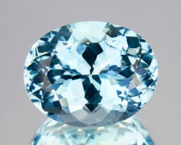 ~RICHEST~ 5.17 Cts Natural Blue Aquamarine Oval Santa maria - Brazil