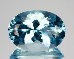 ~RICHEST~ 7.76 Cts Natural Blue Aquamarine Oval Santa maria - Brazil