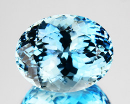 ~RICHEST~ 8.04 Cts Natural Blue Aquamarine Oval Santa maria - Brazil
