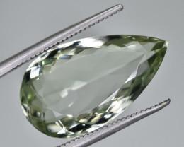 11.08 Crt Natural Prasiolite Green Amethyst Faceted Gemstone.( AG 75)