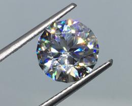4.45 Carat VVS Zircon Master Cut Diamond White Color Incredible  Flash